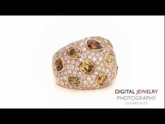 Colored Diamond Jewelry Collection on white background   http://pintubest.com