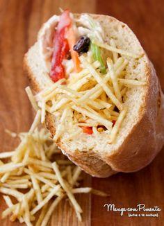 Sanduíche de Salpicão, para ver a receita clique na imagem para ir ao Manga com Pimenta.