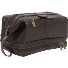 Amazon.com: AmeriLeather Leather Toiletry Bag (Dark Brown): Beauty
