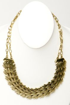 amazing gilded #feather necklace