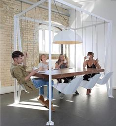 Cool swing chair table
