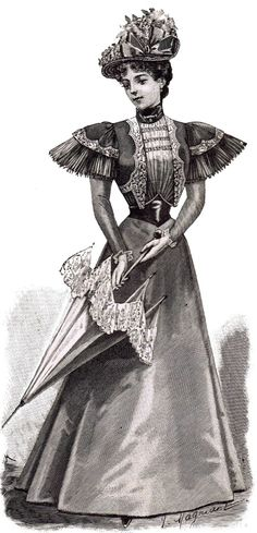 1800's Fashions Summer Gowns Printables at KnickofTime.net