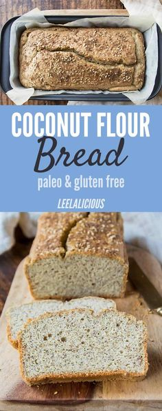 A warm slice of fresh homemade bread doesn& have to be .- A warm slice of fresh homemade bread doesn& have to be full of gluten and carbs. This paleo and gluten-free Coconut Flour Bread proves it. Paleo Baking, Gluten Free Baking, Paleo Recipes, Low Carb Recipes, Bread Recipes, Sweets Recipes, Yummy Recipes, Coconut Flour Bread, Tapioca Flour Recipes