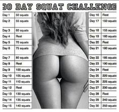 squat challenge | 30 DAY SQUAT CHALLENGE"