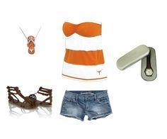 Texas Longhorns girls outfit