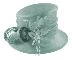 a2e005989a6 Fascinators 4 Weddings - Hawkins Collection Nested Loops Wedding Hat in  Mint Green (WH243)