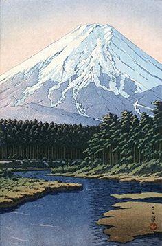 "Japanese Art Print ""Mt. Fuji Seen from Oshino"" by Kawase Hasui. Shin Hanga and Art Reproductions http://www.amazon.com/dp/B01E8TUDZU/ref=cm_sw_r_pi_dp_On5dxb1FAWGYE"
