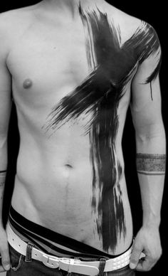 Post-apocalypse body paint / fashion / post-apocalyptic looks / war paint / male / dystopian / menswear / men's / style