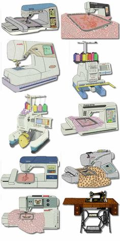 10 set Embroidery Machine Embroidery Designs
