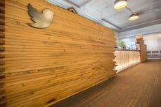 The feeling continues into Twitter's reception area ...