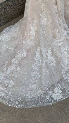 Val Stefani Sparkly Lace Mermaid Wedding Dress with Deep Sweetheart Neckline and Straps Stunning Wedding Dresses, Perfect Wedding Dress, Wedding Dress Styles, Dream Wedding Dresses, Bridal Dresses, Wedding Gowns, Wedding Lace, Glamorous Wedding, Lace Mermaid Wedding Dress