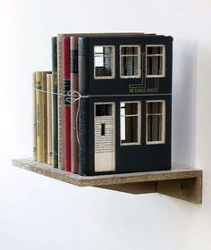 Book-Built House Decor - Artist Frank Halmans Turns Literary Classics into Houses with Windows (GALLERY)