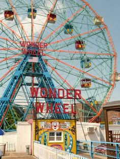 "i remember my first ride on the wonder wheel. jeremy remembers his as a little more terrifying...i ""forgot"" to tell him the cars moved."
