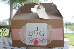 Wedding Guest Gift Box. $6.00, via Etsy.