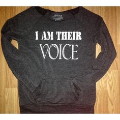 FTLA Apparel I AM THEIR VOICE Off the Shoulder Eco Fleece Sweatshirt by FTLA Apparel