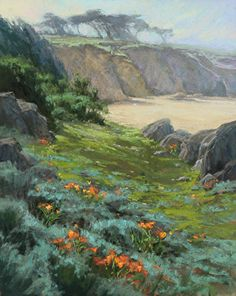 Coastal Poppies by Kim Lordier Pastel ~ 20 x 16
