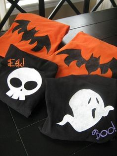 DIY Stenciled Halloween T-shirts