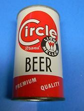 VINTAGE CIRCLE BRAND STRAIGHT STEEL BEER CAN CIRCLE BREWING HAMMONTON NEW JERSEY