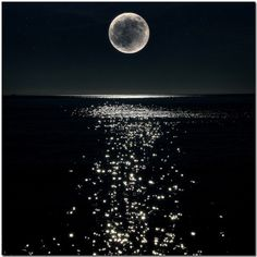 moonlight on the ocean, I really like the how dark the picture is and how the moon light shines on the water