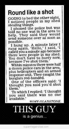 Smart guy haha