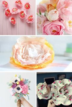 21 Of The Best Flower Tutorials On The Internet - Some excellent flower DIY tutorials made from a mixture of paper, fabric and tissue paper! Lots of ideas and inspiration to help you make your own bouquet of flowers!