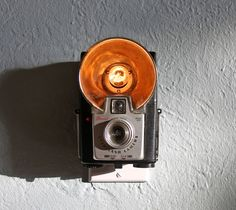DIY vintage camera night light