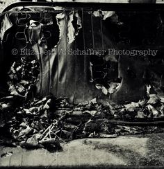 Backseat by Elizabeth A. Schaffner Photography  #photography #blackandwhite #Abandoned #abstract