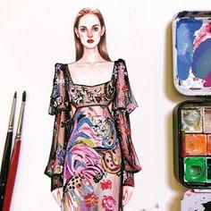 832 個讚,10 則留言 - Instagram 上的 SONIA 邵邵(@sonia_shao):「 to be continued ……✏️#alexandermcqueen #adriennejuliger #soniashao #fashionillustrations… 」