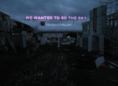 untrustyou:  Tim Etchells - We Wanted To Be The Sky