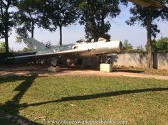 Jet on display, War Museum, Siem Reap, Cambodia. www.antonswanepoelbooks.com