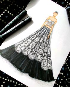 Art Drawings Sketches Simple, Dress Design Sketches, Fashion Design Sketchbook, Fashion Design Drawings, Fashion Sketches, Fashion Drawing Dresses, Fashion Illustration Dresses, Fashion Illustrations, Indian Illustration