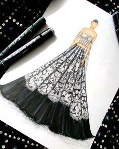 Dress Design Drawing, Dress Design Sketches, Fashion Design Sketchbook, Fashion Design Drawings, Fashion Sketches, Fashion Figure Drawing, Fashion Drawing Dresses, Fashion Illustration Dresses, Fashion Illustration Tutorial
