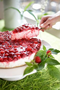 Raw Food Recipes, Sweet Recipes, Cake Recipes, Dessert Recipes, Finnish Recipes, Delicious Desserts, Yummy Food, Raw Cake, Scandinavian Food