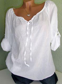 Hübsche hauchzarte Bluse / Tunika / Shirt Baumwolle in weiß Gr. 38 40 | Kleidung & Accessoires, Damenmode, Blusen, Tops & Shirts | eBay!