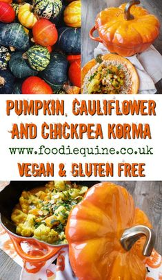 Foodie Quine - Edible Scottish Adventures: Pumpkin, Cauliflower and Chickpea Korma Lunch Recipes, Crockpot Recipes, Vegetarian Recipes, Dinner Recipes, Healthy Recipes, Chickpea Recipes, Broccoli Recipes, Savoury Recipes, Roast Recipes