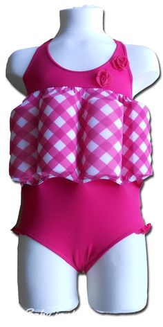 girls swimmers with removable safety floats