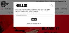 9 Examples of Inspired Ecommerce Popup Design Email Marketing Design, You've Got Mail, User Interface Design, Wireframe, Party Signs, Business Management, Popup, Whats New, Ecommerce