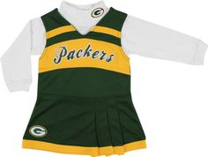 Girls Green Bay Packers Cheerleader Outfit, Packers Cheer Costume, Packers Cheerleader Set