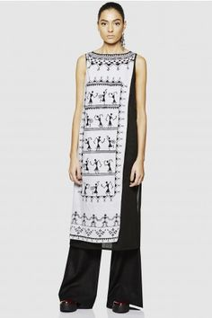 Over-Lap Hand Painted Warli Tunic