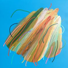 'Lucky Rock' by Mark Jessett, 2017, acrylic on paper over board www.markjesett.com #abstractpainting #contemporaryabstractart