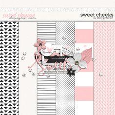 Quality DigiScrap Freebies: Sweet Cheeks mini kit freebie from Libby Pritchett
