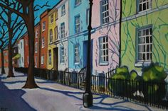 Buy Painted Georgian Terrace, Oil painting by Emma Cownie on Artfinder. Georgian Terrace, City Painting, Paintings For Sale, Art Pieces, Exterior, Animation, Colours, Architecture, Artwork