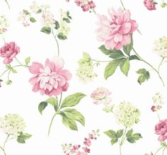"Brewster Home Fashions 33' x 20.5"" Peony Wallpaper"