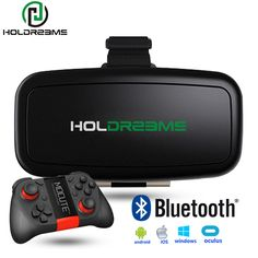 Find More 3D Glasses/ Virtual Reality Glasses Information about HOLDREAMS H1 3D Glasses VR BOX 3.0 Virtual Reality Headset Google Cardboard VR Video for 4 5.5 inch Phone + Gamepad Mocute 050,High Quality videos for cell phone,China glasses light Suppliers, Cheap video display from Holdream Online Store on Aliexpress.com