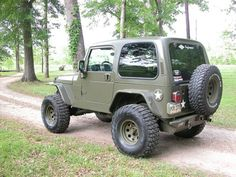 2006 Jeep Wrangler Jim turned a stock Wrangler into this sweet olive drab army Jeep. He just got his paint job finished and is heading to the Superlift ORV park to try out the new gearing and suspension.