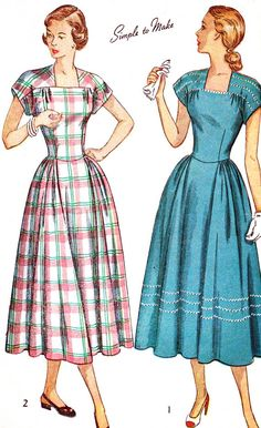 1940s Dress Pattern Simplicity 2406 Back Button by paneenjerez, $14.00. Thought of you alisha!!
