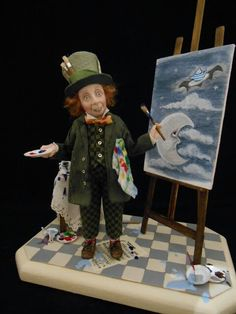 The Mad Hatters work of art by Julie Campbell