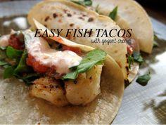 Poppytalk: Best of Food   Easy Fish Tacos w/Yogurt Crema