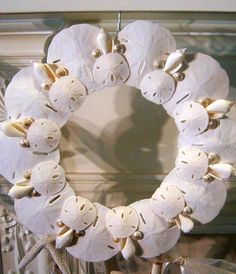 Beach Decor Shabby Chic Sweet Sand Dollar by PinkPelicanDesigns, $68.00- need to make my own with sand dollars from PI!