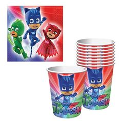 Plates Cups Napkins Wreck it Ralph Tableware Combo for 8 Guests